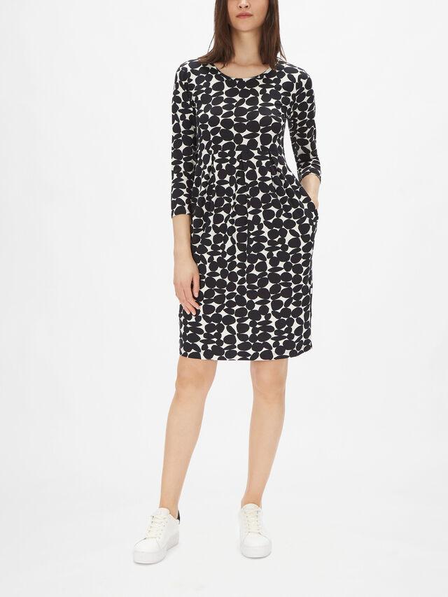 Noma Dot Pattern A Line Jersey Midi Dress