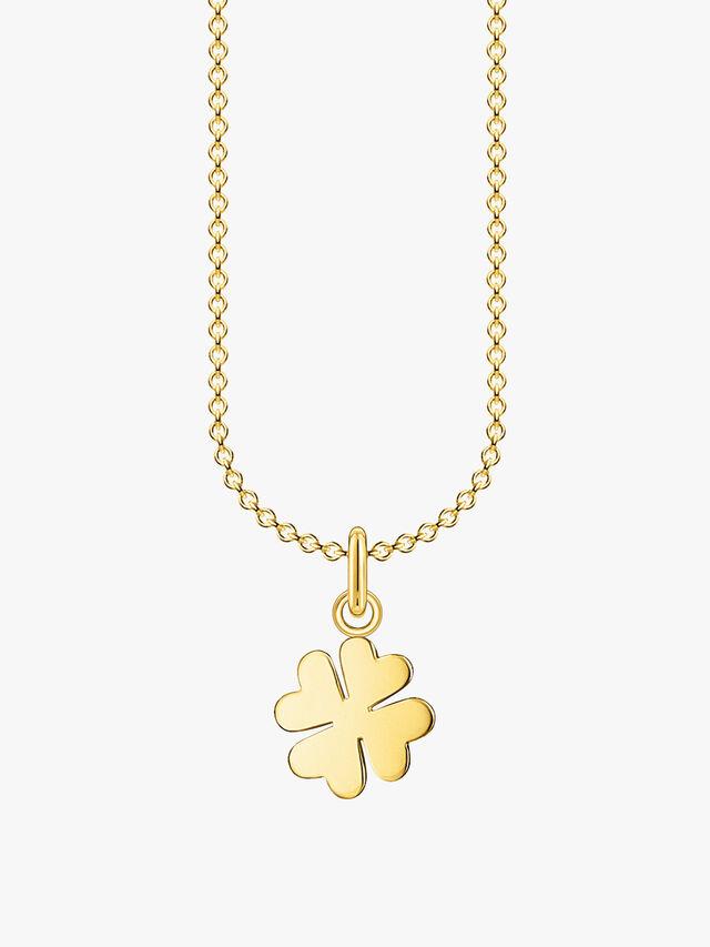 Gold Clover Leaf Pendant Necklace