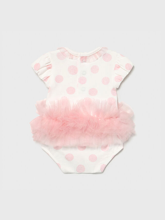 Spotted Tulle Trim Body