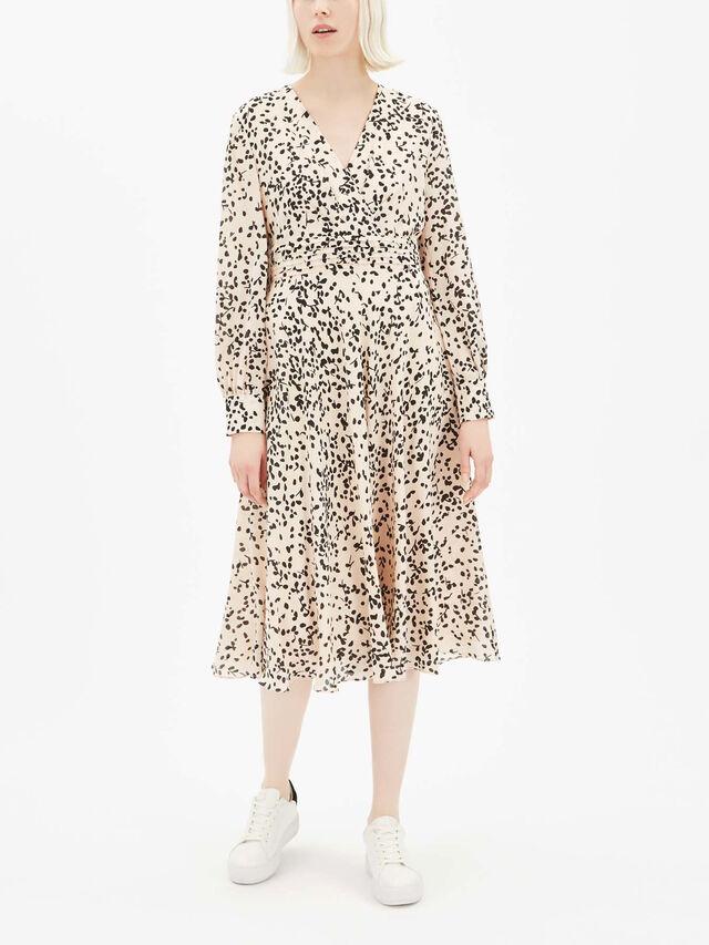 Tondo Printed V Neck Dress