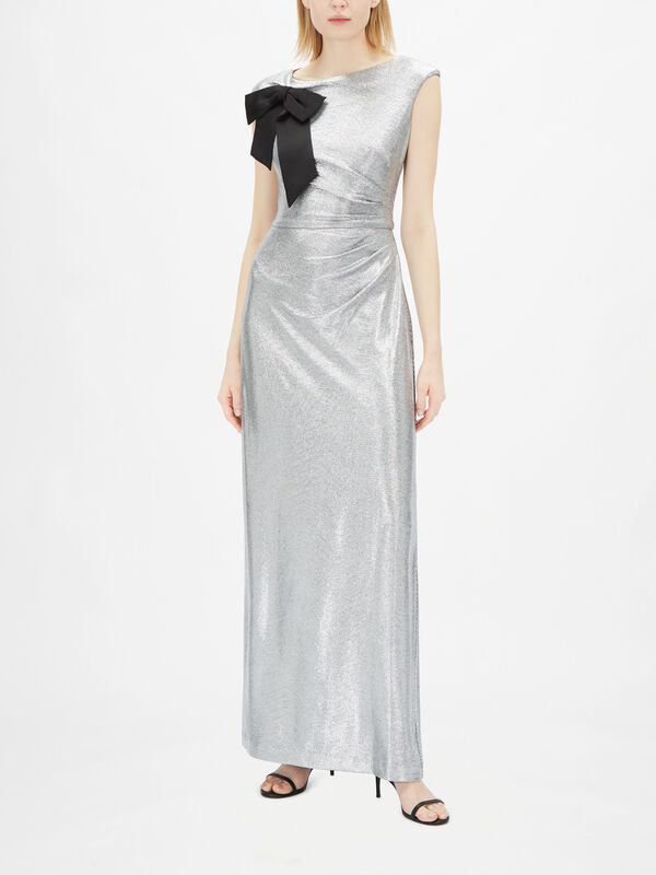 Aveline Wrap Detail Evening Gown