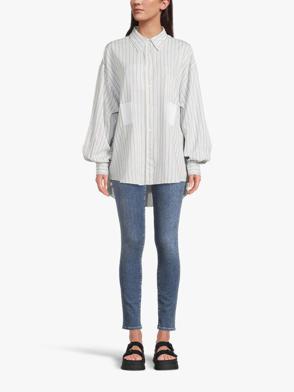 Oversized Striped Navetta Shirt