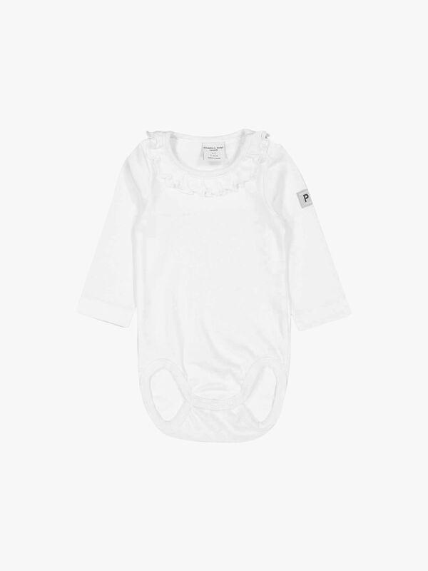 Organic Ruffled Baby Bodysuit