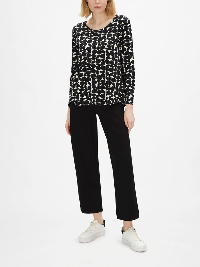 Badisna Dot Pattern Jersey Top