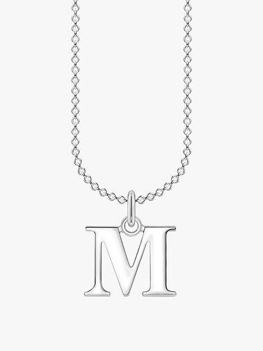 M Letters Pendant Necklace