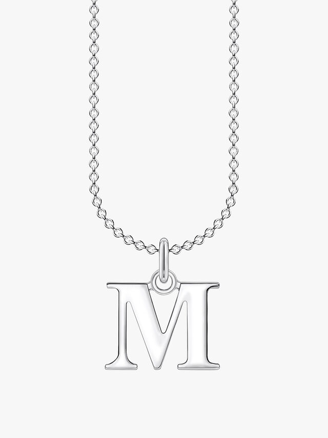 M Letters Pendant Necklace