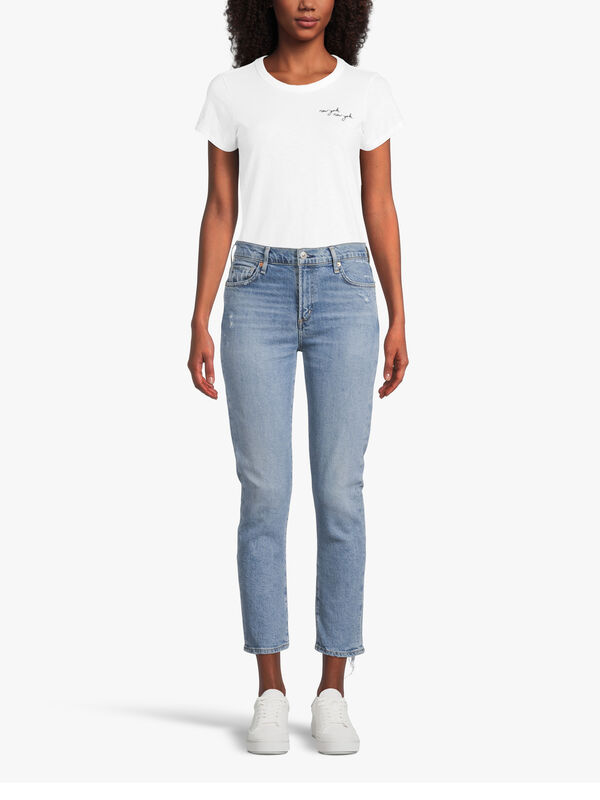 Harlow Ankle Mid Rise Slim Jeans