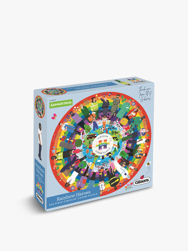 Rainbow Heroes 500 Piece Circular Jigsaw Puzzle