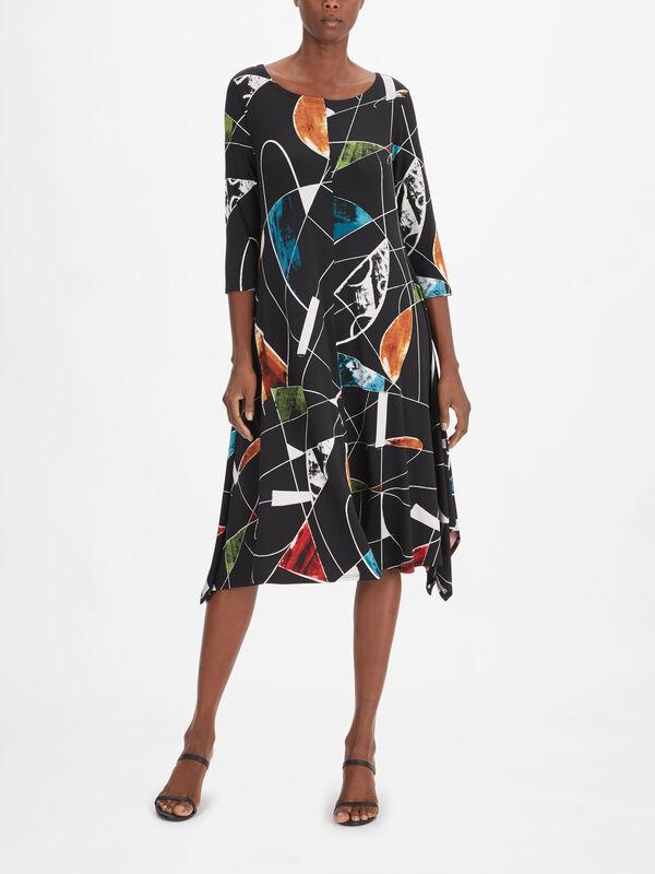Jewel Print A-Line Dress