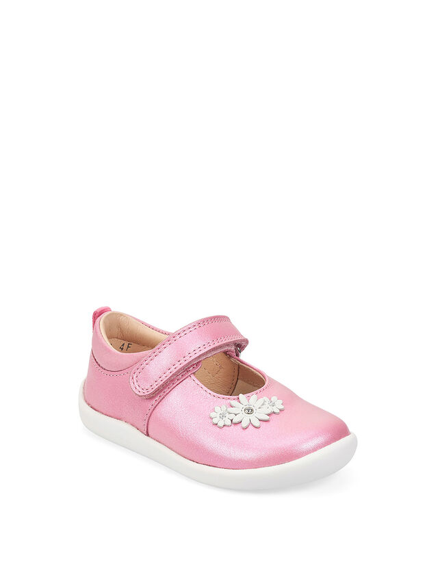 Fairy Tale Pink Metallic Leather First Shoes