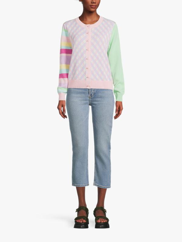 Octavia Plaid Multi Coloured Cardigan
