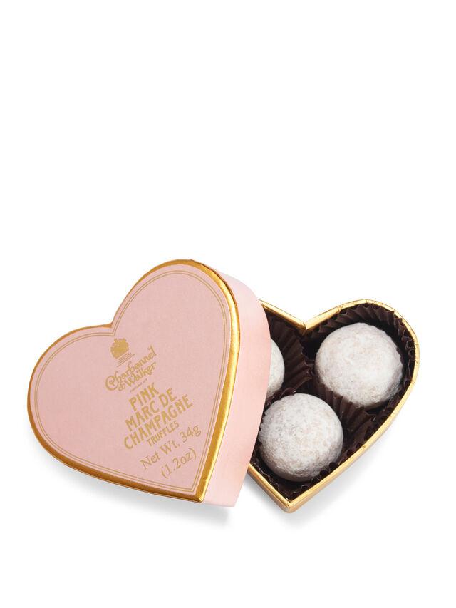 Mini Pink Marc De Champagne Heart Box