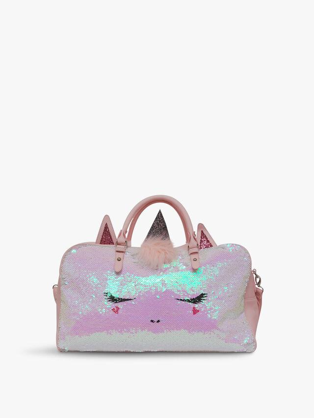 Sequins Unicorn Critter Duffle Bags