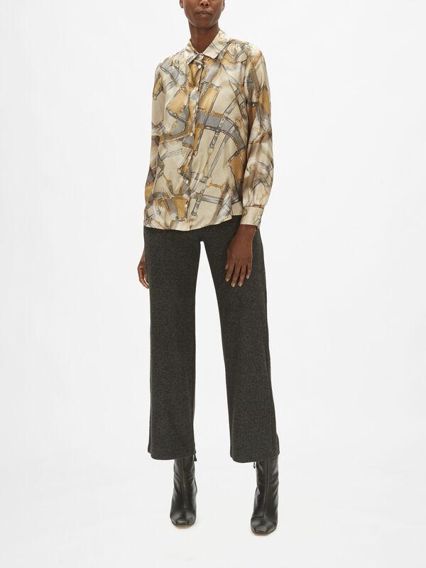 Nido Bridle Print Silk Shirt