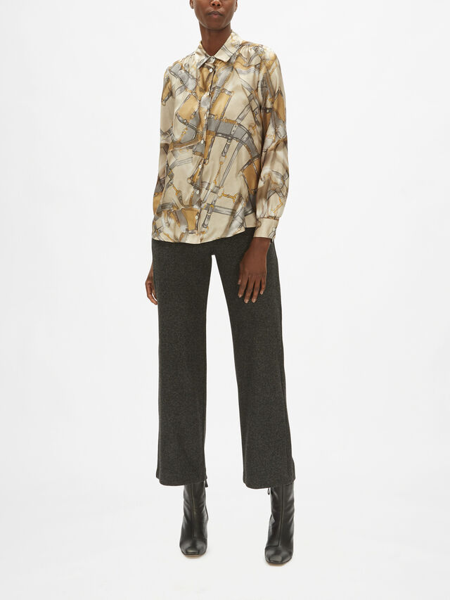 Nido Bridle Print Silk Shirt