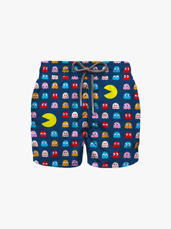 Pac Man Printed Swim Shorts