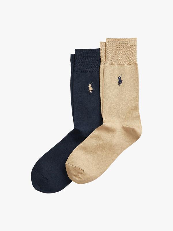 2 Pack Embroidered Logo Socks