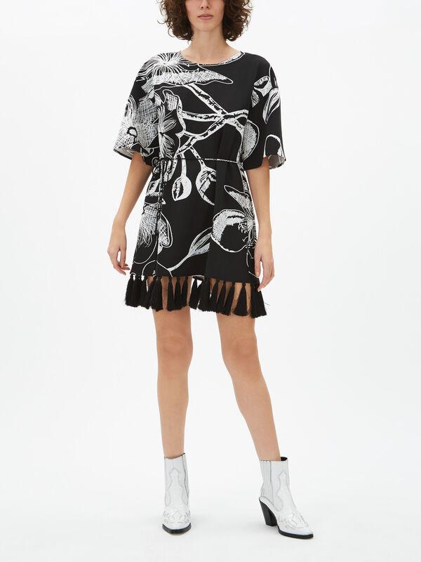 Lotus Tassel Printed Dress