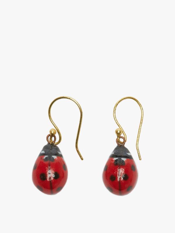 Ladybird Drop Earrings