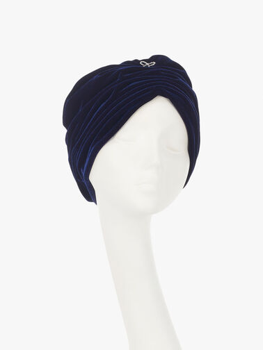 Velvet Turban with Bow Detail
