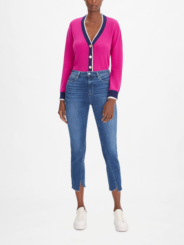 Hoxton High Rise Skinny Ankle Jeans with Twisted Inseam