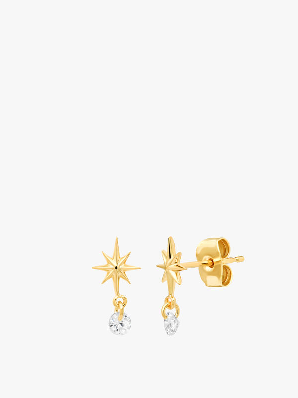 Starburst Dangle Studs