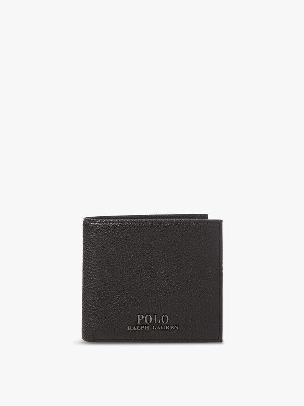 Logo Leather Billfold Wallet