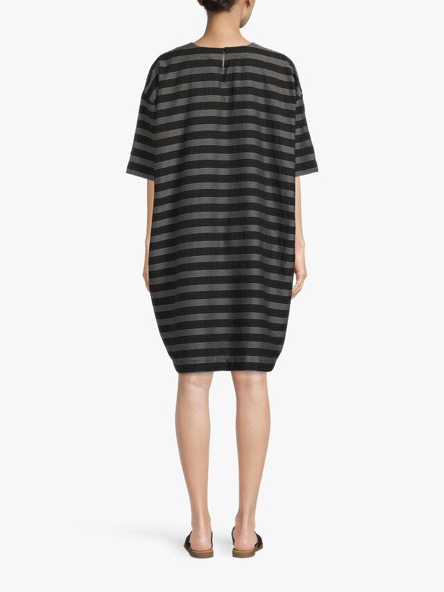 Nasla Crop Sleeve Stripe Dress