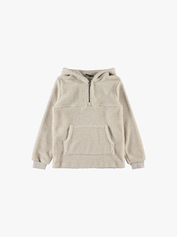 Faux Shearling Sweatshirt