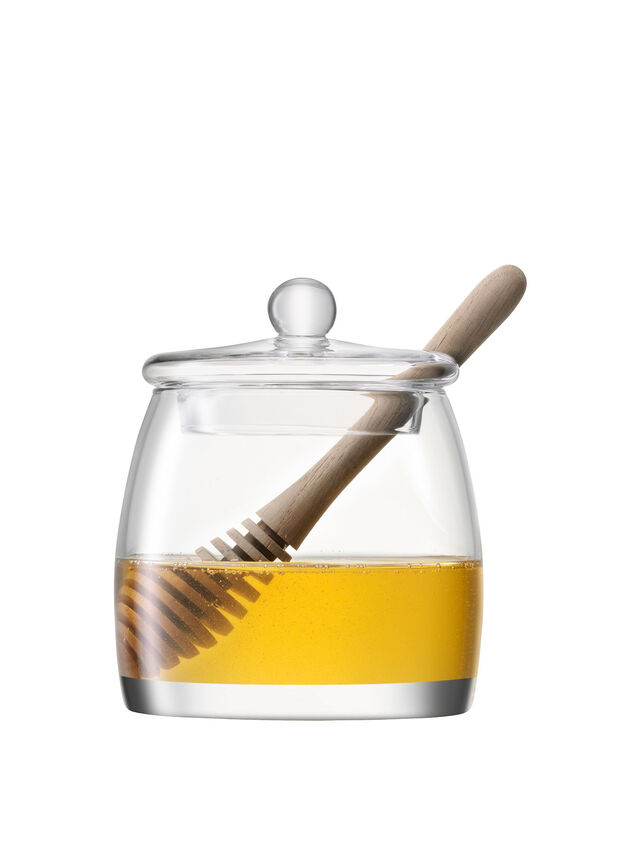 Serve Honey Pot & Oak Dipper
