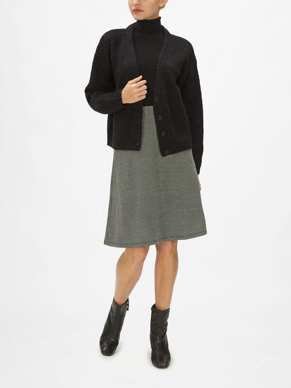 Chunky Knit V Neck Button Down Cardigan