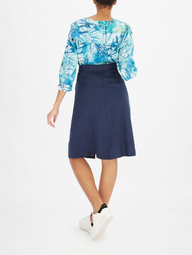 Button Down Skirt With Tie Waist