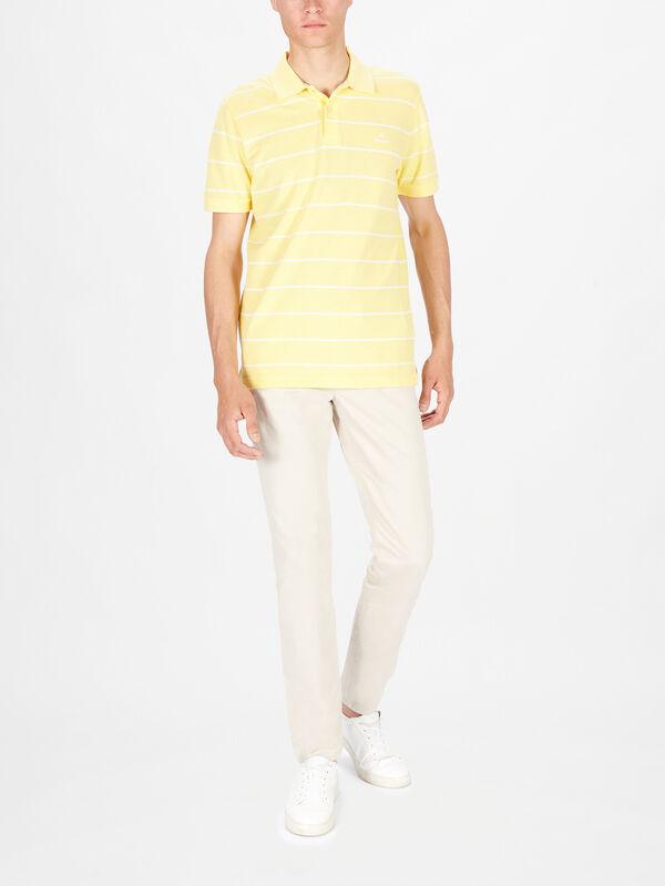 Breton Stripe Pique Rugger Polo Shirt
