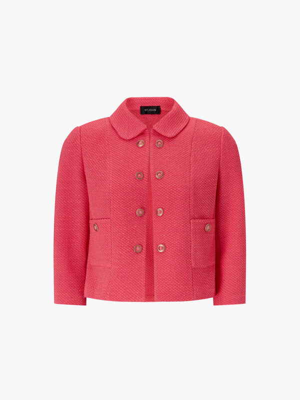 Beti Knit Collar Cropped Jacket