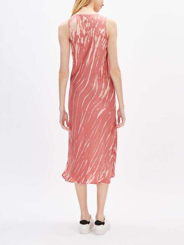Billy Tie Dye Satin Sleeveless Midi Dress