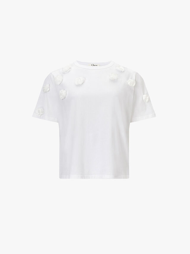 T Shirt with Flowers
