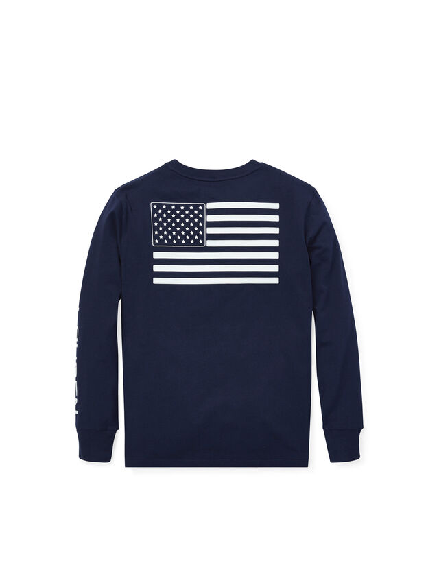 Long Sleeve Flag Graphic Tee