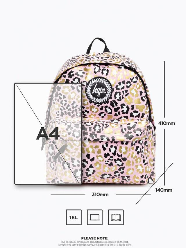 Glitter Leopard Backpack