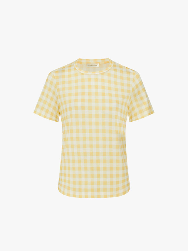 Milo Printed Checked Tee