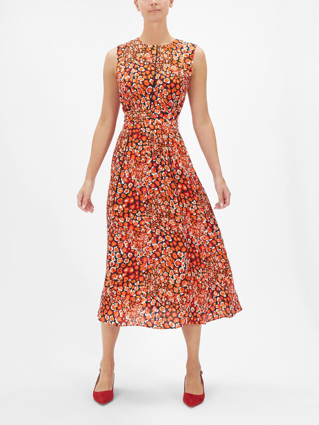 Sleeveless Dress w/Waist Bow Detail