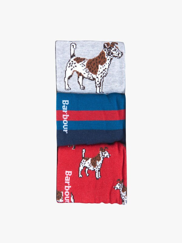 Dog Stripe Sock Giftbox