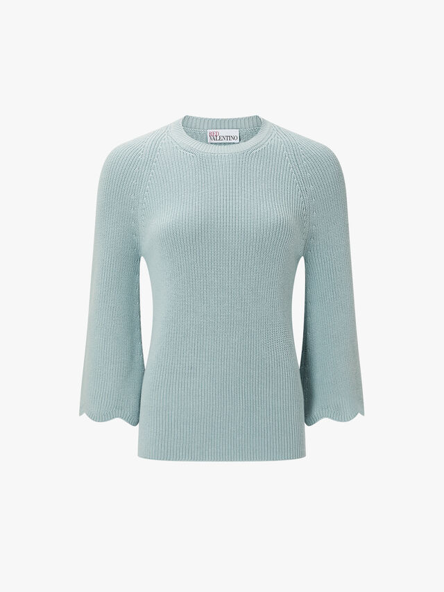 Ribbed Wide Sleeve Knit
