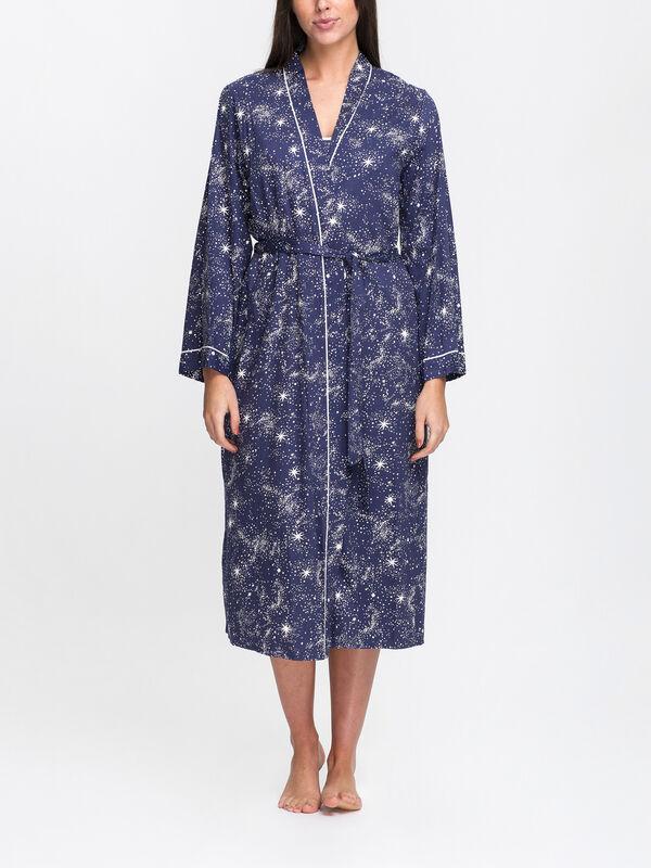 Stella Celestial Print Long Dressing Gown