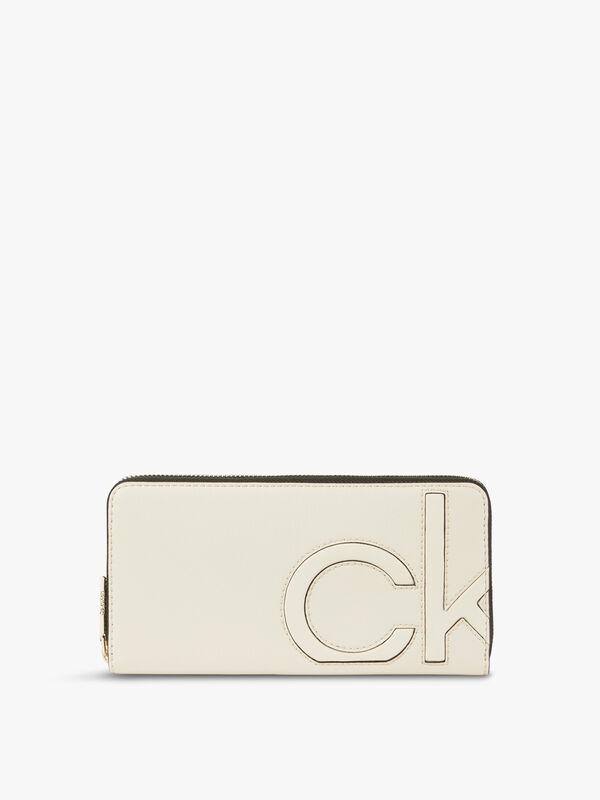 CK Embedded Zip Around Wallet Large