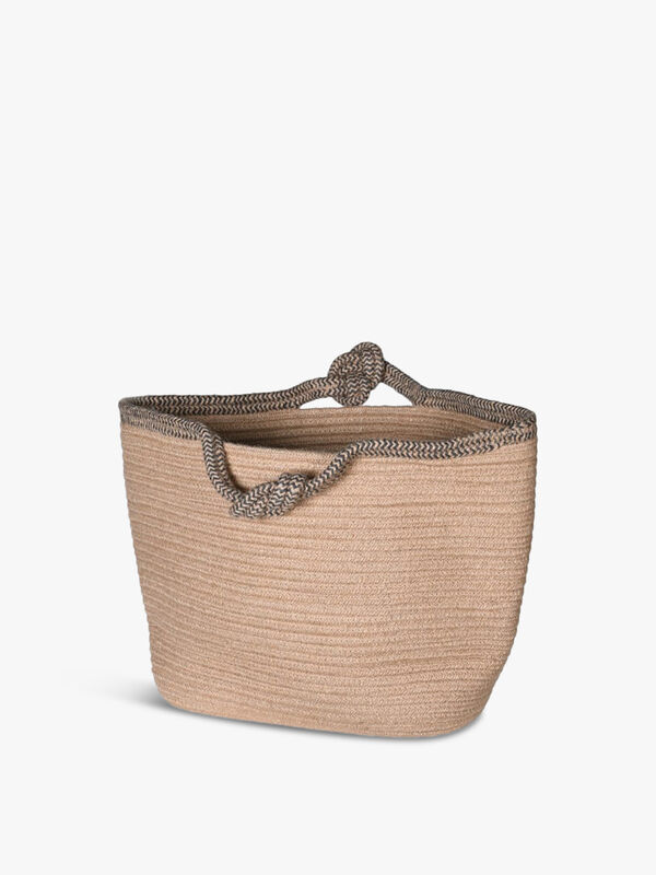 Knot Handle Rope and Jute Basket