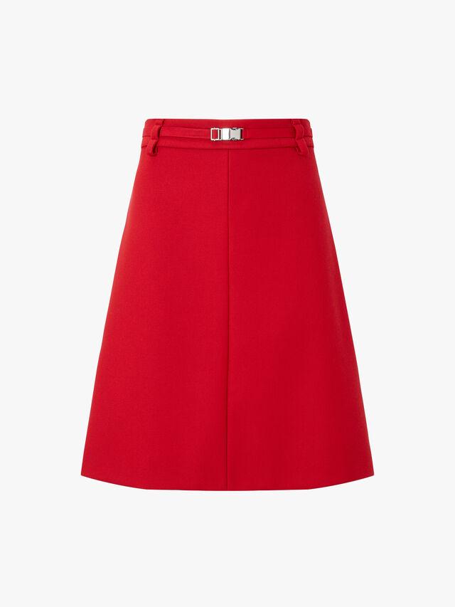 Belt Detail A Line Skirt