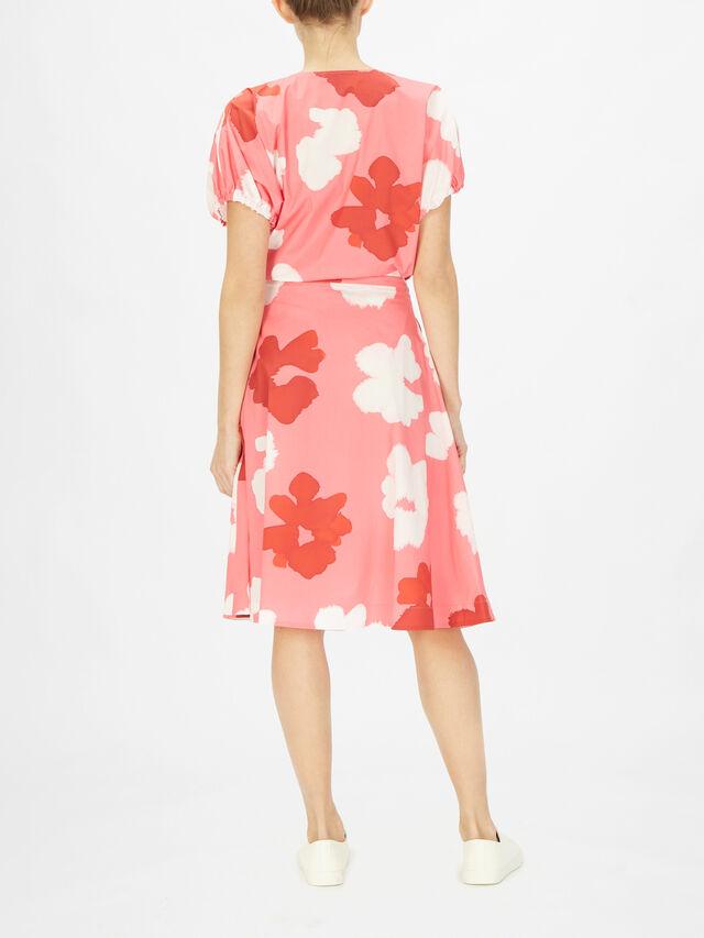 Flower Print Cotton Skirt
