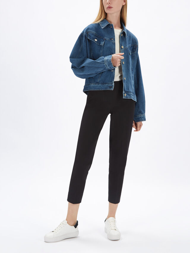 Oversized Badge Denim Jacket