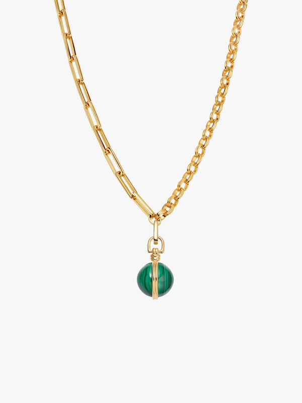 Deconstructed Axiom Malachite Necklace