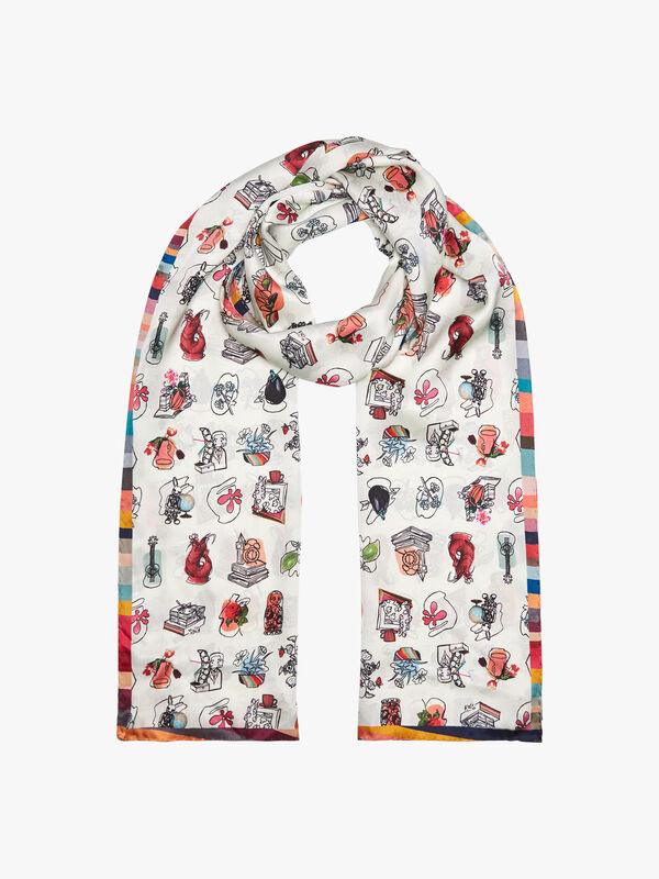 Fenwick Exclusive Silk Tubolar Scarf